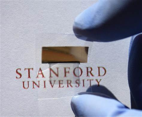 Stanford transparent battery