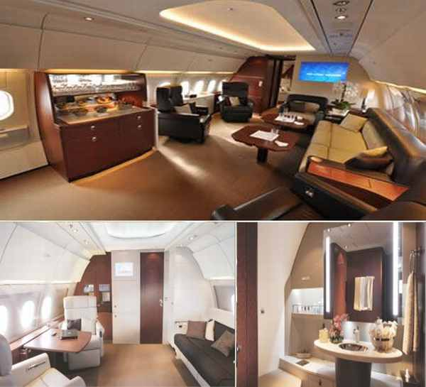Airbus worlds largest corporate jet cabin