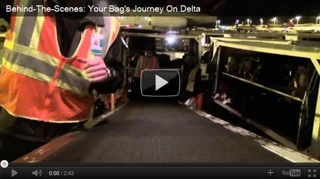 Delta Airlines bag journey through airports