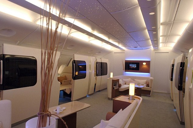 First class on Qantas A380 looks like Starship Enterprise in Star