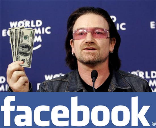 facebook is about to make bono the richest rock star